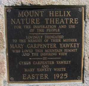 Mount Helix,Nature Theatre,San Diego Trolley Destinations,La Mesa Centennial