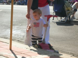 Little one getting ready to enjoy the parade
