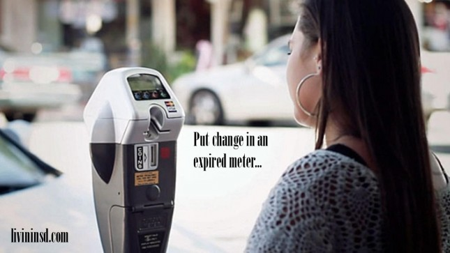 19-Put change in a expired meter -livininsd.com