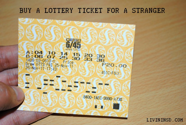 36-Buy a lottery ticket for a stranger  livininsd.com