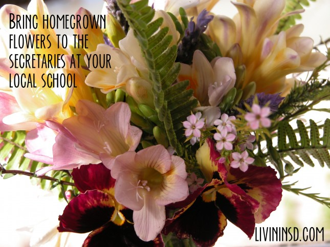 42-bring flowers to the secretaries at your local school  livininsd.com