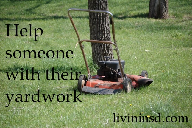 46- Help someone with their yard work   livininsd.com