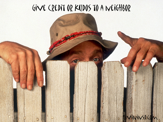 73-Give credit or kudos to a neighbor