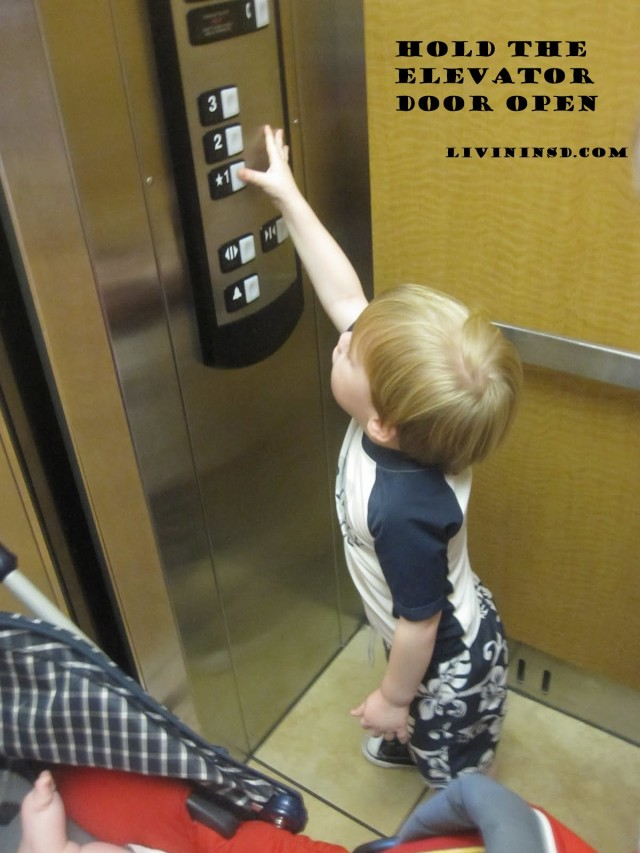 74-Hold the elevator door open