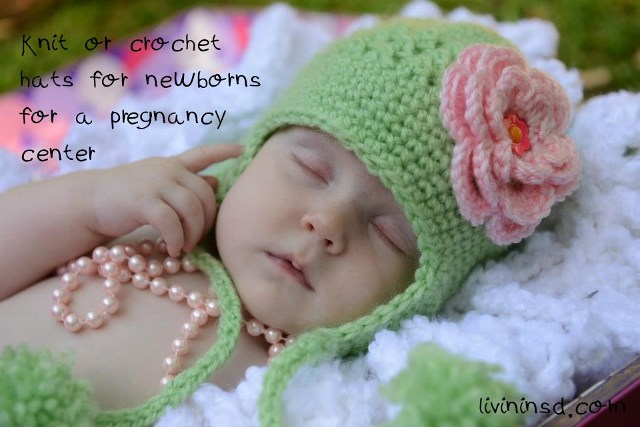 106-Knit or crochet hats for newborns for a pregnancy center