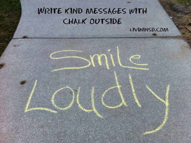 96-Write kind messages with chalk outside