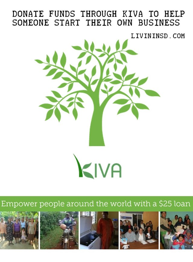134 Donate funds through KIVA to help someone start their own business
