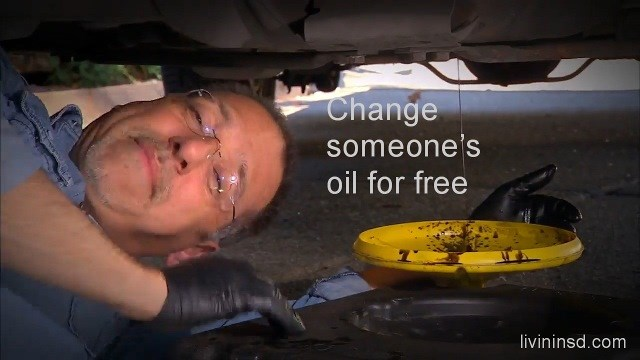 143-Change someones oil for free