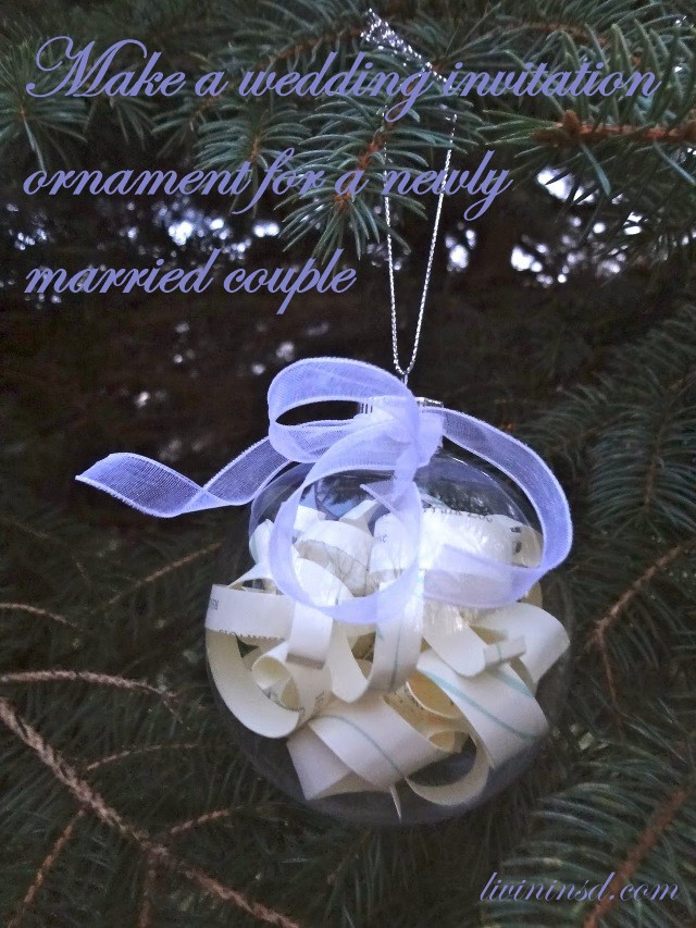 148 Make a wedding invitation ornament for a newly married couple