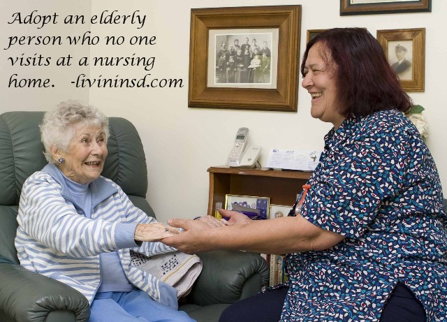 161- Adopt an elderly person who no one visits at a nursing home