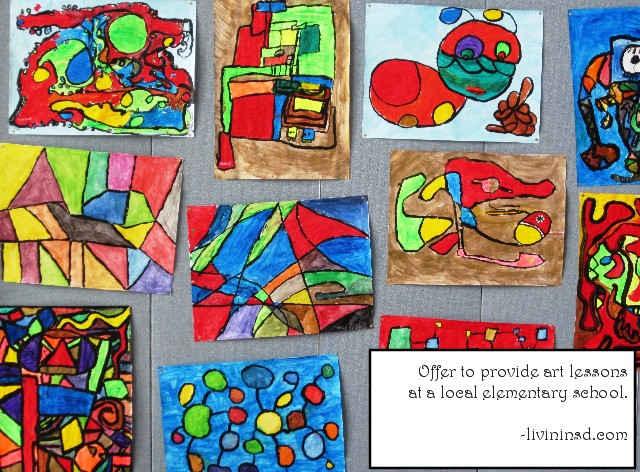 175 Offer to provide art lessons at a local elementary school