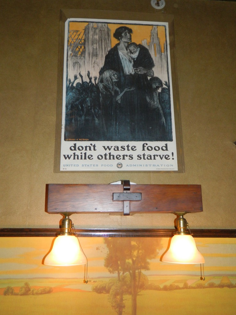 WWI Don't waste food poster at the Riordan Mansion in Flagstaff AZ