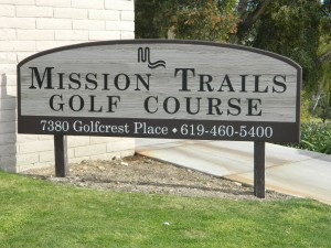 Mission Trails Golf Course Sign