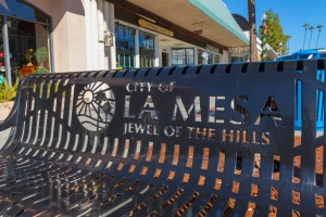 La Mesa Downtown Bench